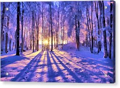 Winter Fairy Tale Acrylic Print