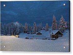 Winter Fairy Tale At Grouse Mountain Acrylic Print by Eti Reid