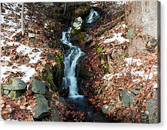 Winter Falls At Franny Reese Acrylic Print by Jeff Severson