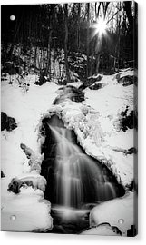 Acrylic Print featuring the photograph Winter Falls With Sun by Alan Raasch