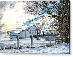 Winter Farm Acrylic Print