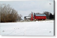 Winter Farm Acrylic Print by Robert Clayton