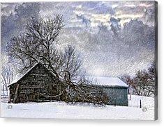 Winter Farm Acrylic Print by Steve Harrington