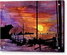 Winter Farmland Acrylic Print