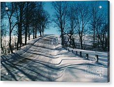 Winter Farmroads Acrylic Print