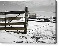 Winter Fence Farm Acrylic Print