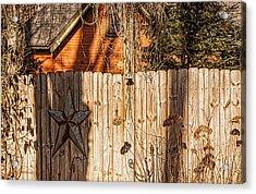 Winter Fence Acrylic Print
