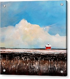 Winter Fields Acrylic Print by Toni Grote
