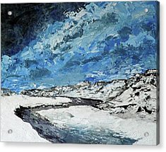 Winter Filled Arroyo Acrylic Print