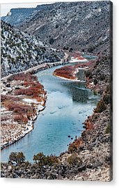Acrylic Print featuring the photograph Winter Fisherman by Britt Runyon