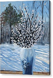 Winter Floral Acrylic Print by Stella Sherman