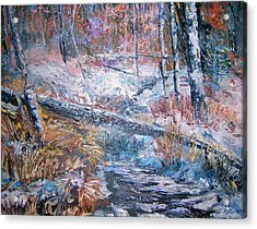 Winter Forest Acrylic Print by Judy Groves