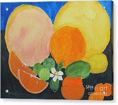 Winter Fruit Acrylic Print by Sandy McIntire