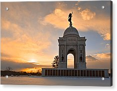Winter Gettysburg Sunrise Acrylic Print