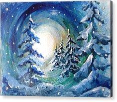 Winter Glow Acrylic Print by Marilyn Jacobson