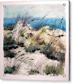 Acrylic Print featuring the painting Winter Grasses by John Williams