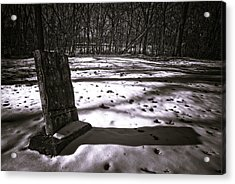 Winter Grave Acrylic Print by George Christian