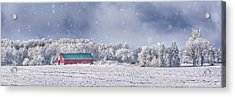 Winter Grey County Acrylic Print