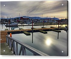 Acrylic Print featuring the photograph Winter Harbor by Chriss Pagani