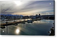 Acrylic Print featuring the photograph Winter Harbor Revisited #mobilephotography by Chriss Pagani