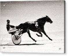 Winter Harness Racing Acrylic Print by Ari Salmela