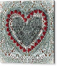 Winter Heart Acrylic Print by Frank Tschakert