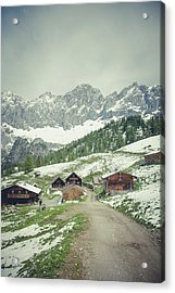 Winter Hiking Acrylic Print