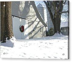 Winter Holiday At The Farm. Acrylic Print by Robert Ponzoni