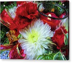 Acrylic Print featuring the photograph Winter Holiday  by Peggy Hughes