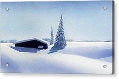 Winter In Austria Acrylic Print