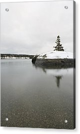 Winter In Blue Hill Acrylic Print