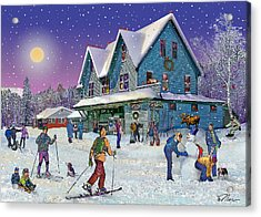 Winter In Campton Village Acrylic Print