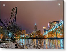 Winter In Cleveland, Ohio  Acrylic Print