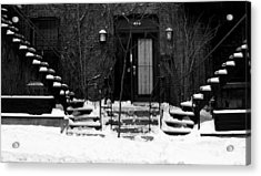 Winter In Montreal Acrylic Print by Robert Knight