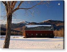 Acrylic Print featuring the photograph Winter In New England by Alana Ranney