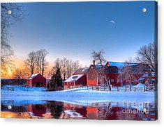 Winter In New England Acrylic Print by Michael Petrizzo