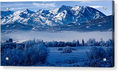 Winter In Ogden Valley In The Wasatch Mountains Of Northern Utah Acrylic Print