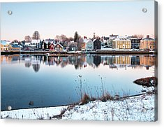 Winter In Portsmouth Acrylic Print by Eric Gendron