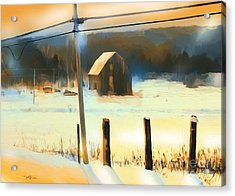 Winter In Powassan Ont. Acrylic Print by Bob Salo