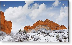Acrylic Print featuring the photograph Winter In Spring by Tim Reaves