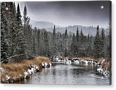 Acrylic Print featuring the photograph Winter In The Adirondack Mountains - New York by Brendan Reals