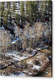 Winter In The Susan River Canyon Acrylic Print