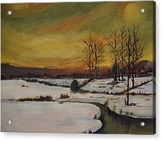 Winter In Upstate New York Acrylic Print