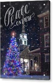 Winter In Vermont - Christmas Acrylic Print by Joann Vitali