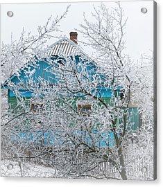 Winter In Village. Shchymel, 2014. Acrylic Print