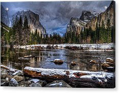 Winter In Yosemite Valley Acrylic Print