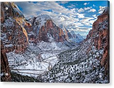 Winter In Zion National Park Acrylic Print