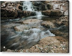 Acrylic Print featuring the photograph Winter Inthe Falls by Iris Greenwell