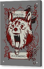 Acrylic Print featuring the digital art Winter Is Coming by Christopher Meade