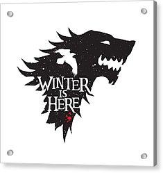 Winter Is Here Acrylic Print by Edward Draganski